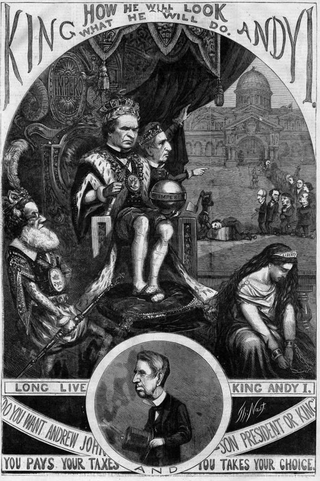 Король Энди. Карикатура Томаса Наста. Harpers Weekly Nov 3th 1868