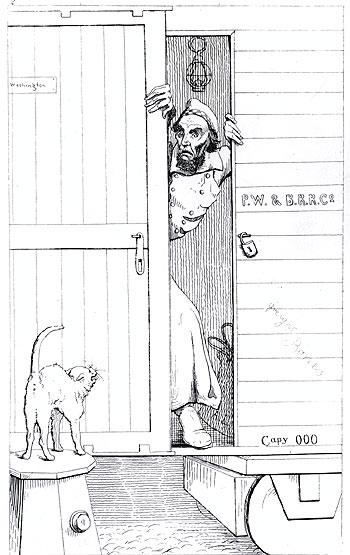 Passage through Baltimore; February 1861