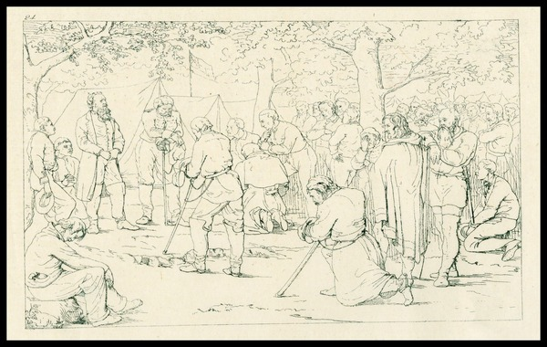 Prayer in Stonewall Jackson's Camp; 1863