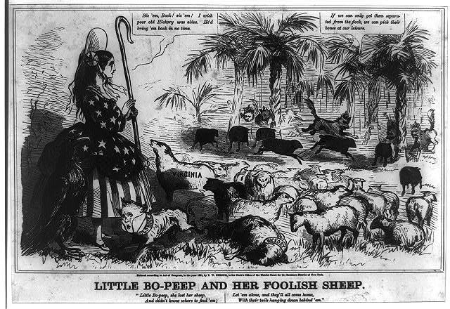 Little Bo-Peep and her foolish sheep