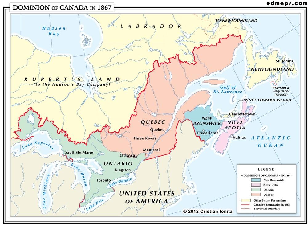 Доминион Канада в 1867 году