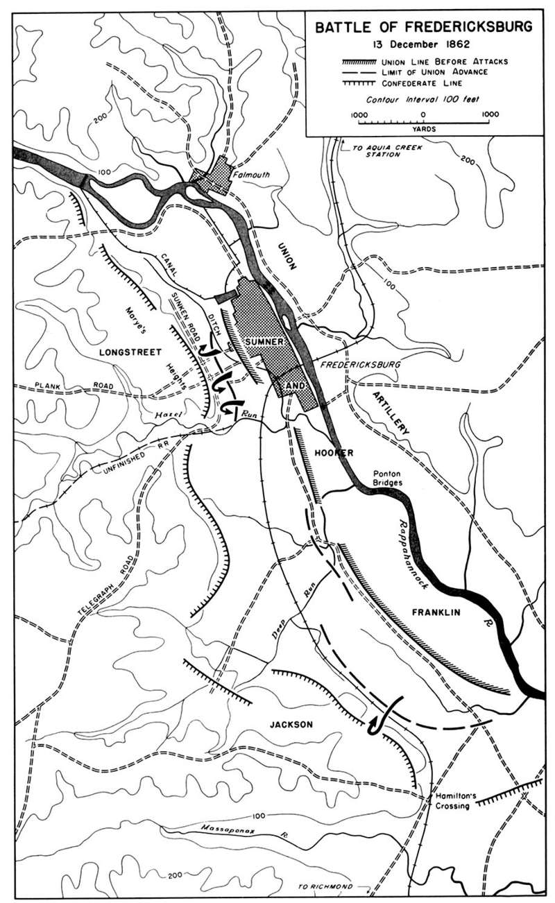 Сражение при Фредериксберге, 14 декабря 1862