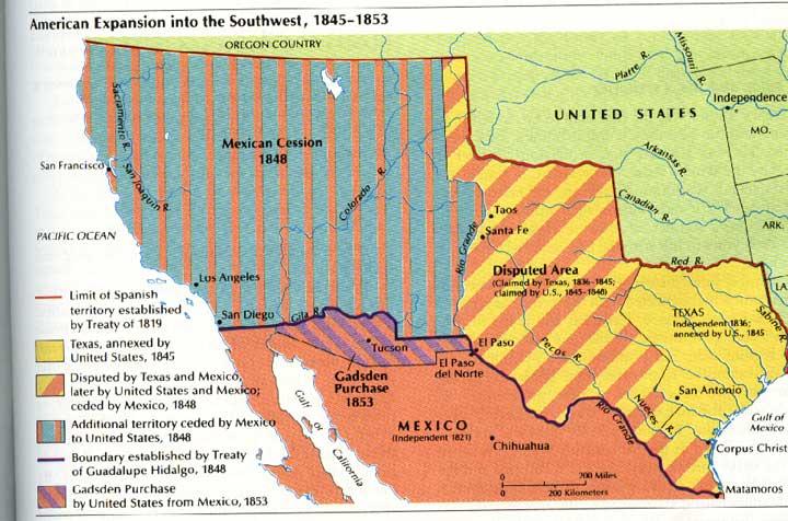 Американская экспансия на Юго-Запад, 1845-1853